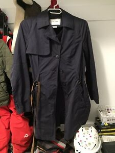 Womens geox navy trench coat