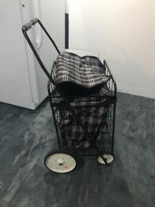 Plaid waterproof shopping cart/trolley