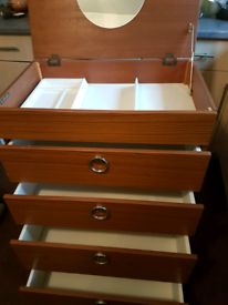 Schreiber Vintage Retro Mid Century Dressing Table Chest of Drawers
