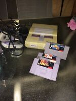 Super Nintendo + games ( mr nutz, lion king, flinstone)