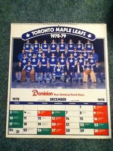 1978-79 Toronto Maple Leafs calender / posters. Man cave