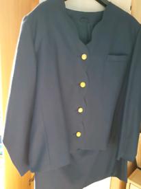 Ladies navy suit skirt size 20