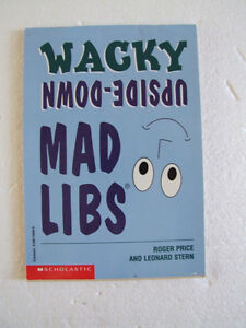 Scholastic Wacky Word Game Upside Down Mad Libs Workbook London Ontario image 1