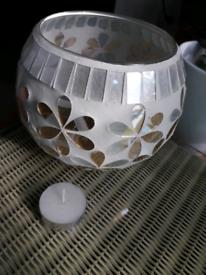 💥 LARGE MOSAIC GLASS CANDLE HOLDER!!