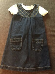 NEW Old Navy denim dress with tshirt 5T