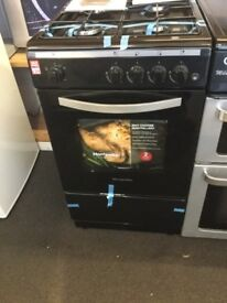 Montpellier black gas cooker new