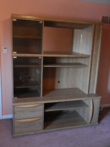 Teak Wall Cabinet 5 ft by 6 ft high