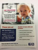 Home Child Care Information Evening
