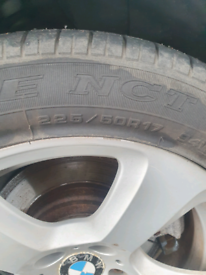 Bmw 17 inch alloys and tyres x 4
