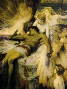 LAMENT FOR ICARUS Herbert Draper PRINT FRAMED nymphs MYTHICAL Cambridge Kitchener Area image 8