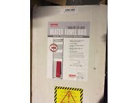 White heated Windsor towel rail