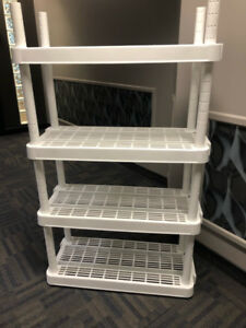 Interlocking Plastic Shelves