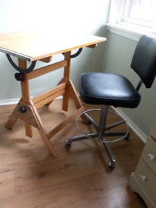Drafting Desk and Chair