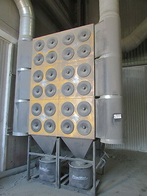 24 Cartridge Plymovent Bmd-24f Dustfume Collector W25 Hp Chicago Fan Pulse Jet