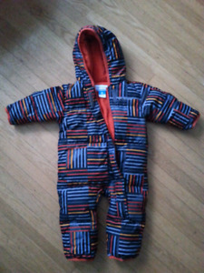 Columbia 100% Down Filled Bunting Suit 6-12 months