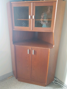 Gorgeous rare corner cabinet and  matching desk