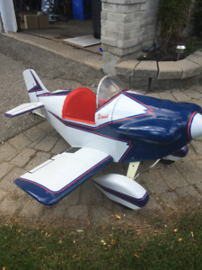 antique pedal plane, child ride on , about 4 feet across,