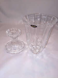 Beautiful Crystal candle holder, two parts