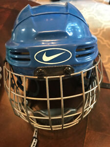 NIKE HOCKEY HELMET BAUER CAGE EXCELLENT CONDITION