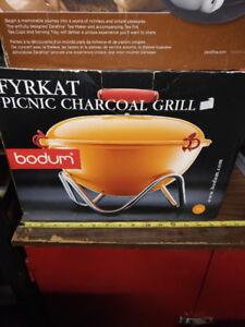 Bodum picnic charcoal grill BBQ -  fyrkat - new
