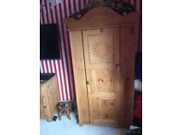 Boys oak bedroom furniture and bed, side table wardrobe, draws