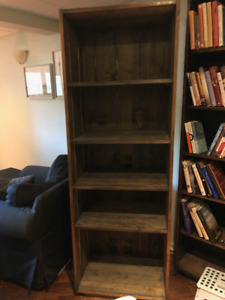 SOLID MAPLE BOOK SHELVING/ENTERTAINMENT  CENTER
