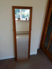 Pine framed full length mirror