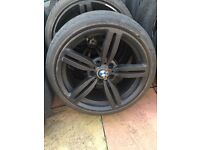 "Bmw m6 black 18"" alloy wheel Can Post"