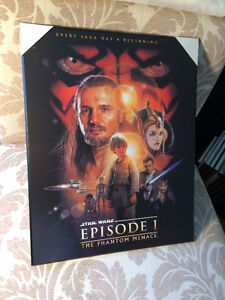 "Star Wars ""The Phantom Menace"" Plaque Mounted Poster (new)"