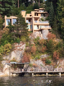 Magnificent Property On the Water on 3 levels with cottage /deck