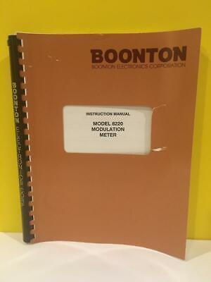 Boonton 98402300a Model 8220 Modulation Meter Instruction Manual