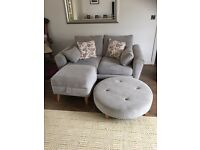 DFS sofa , storage footstool and footstool