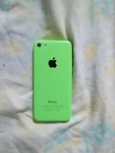 iPhone 5c Green with Glass screen protector mint condition