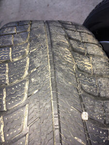 Factory Mitsubishi Lancer alloy wheels with Michelin snow tires Peterborough Peterborough Area image 2
