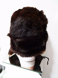 RUSSIAN FUR HAT shapka ushanka treukh EAR FLAPS trooper SABLE Kitchener / Waterloo Kitchener Area image 7