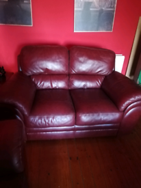 Italian Red leather two two setters