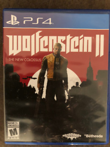 PS4 WOLFENSTEIN 2 II THE NEW COLOSSUS