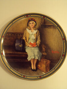 """Norman Rockwell Decorative Plate – """"A Young Girl's Dream"""""""
