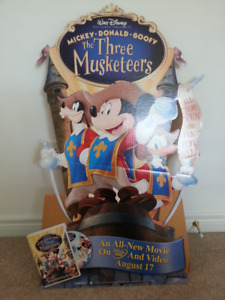 "2004  ""Disney"" Ad Poster 'THREE MUSKETEERS' Movie DVD/Video"