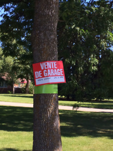 Donnez de la visibilité à votre vente de garage !