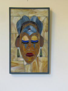 Stained glass wall plaque  $200