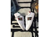 Gucci Ace low-top Silhouette Embroidered Tiger - With Box