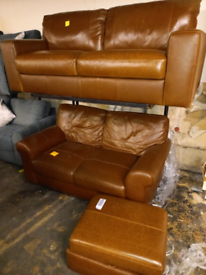 Leather Sofa Settee set only £550. CLOSING DOWN SALE. Furniture Supers