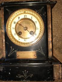 Antique gilt mantle clock £45