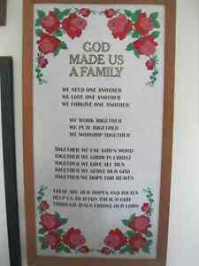 HANGING WOODEN FRAMED RELIGOUS SAYING