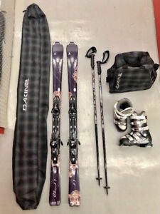 *LIKE NEW* Atomic Skis + Boots, Rossignol Poles + Dakine Bags