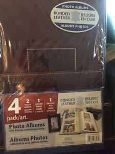 PHOTO ALBUMS-BONDED LEATHER-4 PACK/ART