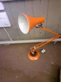Vintage retro anglepoise 90 orange lamp