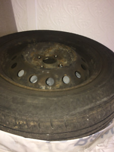 4 Pneus d'été - Summer tires 175/65R14 with rims - jantes 4x100