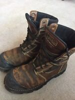 Steel toed boots size 11/12